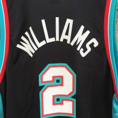 2001 Jason Williams Memphis Grizzlies Champion NBA jersey size 44 large