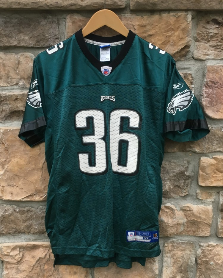 fb029e3521c 2004 Brian Westbrook Philadelphia Eagles Reebok NFL Jersey Youth XL ...