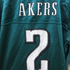 2004 David Akers Philadelphia Eagles Reebok NFL jersey size Large