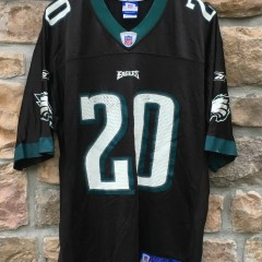 2004 Brian Dawkins Philadelphia Eagles Black alternate jersey size Large