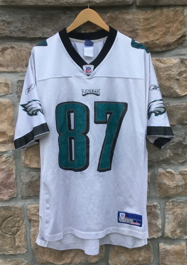 744386be 2004 Todd Pinkston Philadelphia Eagles Reebok NFL Jersey Size Large