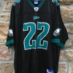 2001 Duce Staley Philadelphia Eagles Reebok NFL jersey size XL black alternate