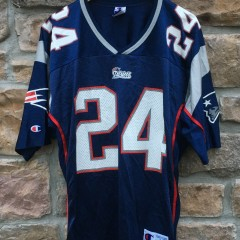 2000 Ty Law New England Patriots Champion NFL jersey size 40 medium