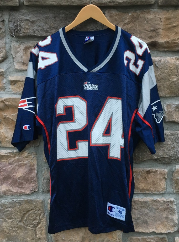 new style a3f3f 65a20 2000 Ty Law New England Patriots Champion NFL Jersey Size 40