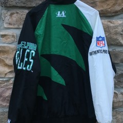 90's Philadelphia Eagles Logo Athletic Sharktooh Windbreaker jacket size xl