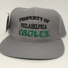 90's Property of Philadelphia Eagles New Era vintage NFL snapback hat deadstock