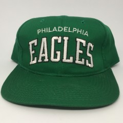 90's Philadelphia Eagles vintage Starter arch kelly green nfl snapback hat