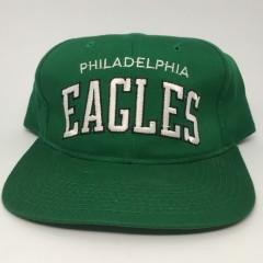 90's Philadelphia Eagles vintage Starter arch kelly green nfl snapback hat