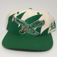 90's Philadelphia Eagles Logo Athletic Sharktooth NFL snapback hat deadstock