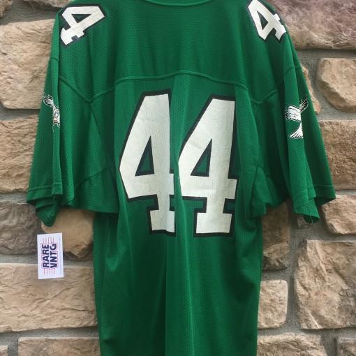 80's Philadelphia Eagles Kelly Green Russell #44 Pete Retzlaff NFL jersey size large