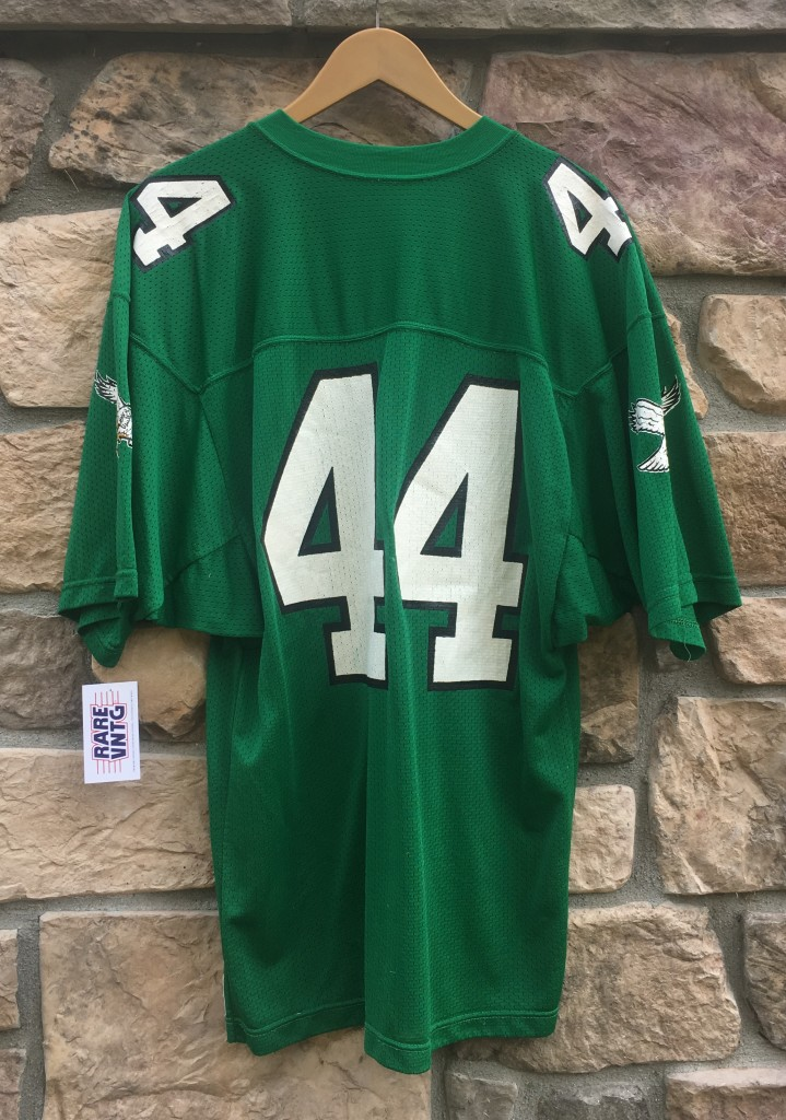 a1c85ac7801 sale 80s philadelphia eagles kelly green russell 44 pete retzlaff nfl  jersey size large b8bc9 12fec