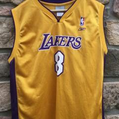 vintage Reebok Kobe Bryant #8 Los Angeles Lakers NBA jersey youth XL