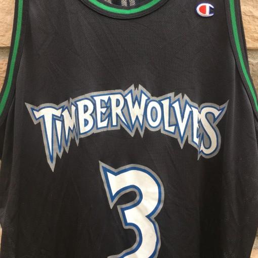 90's Stephon Marbury Minnesota Timberwolves Champion NBA jersey size 52