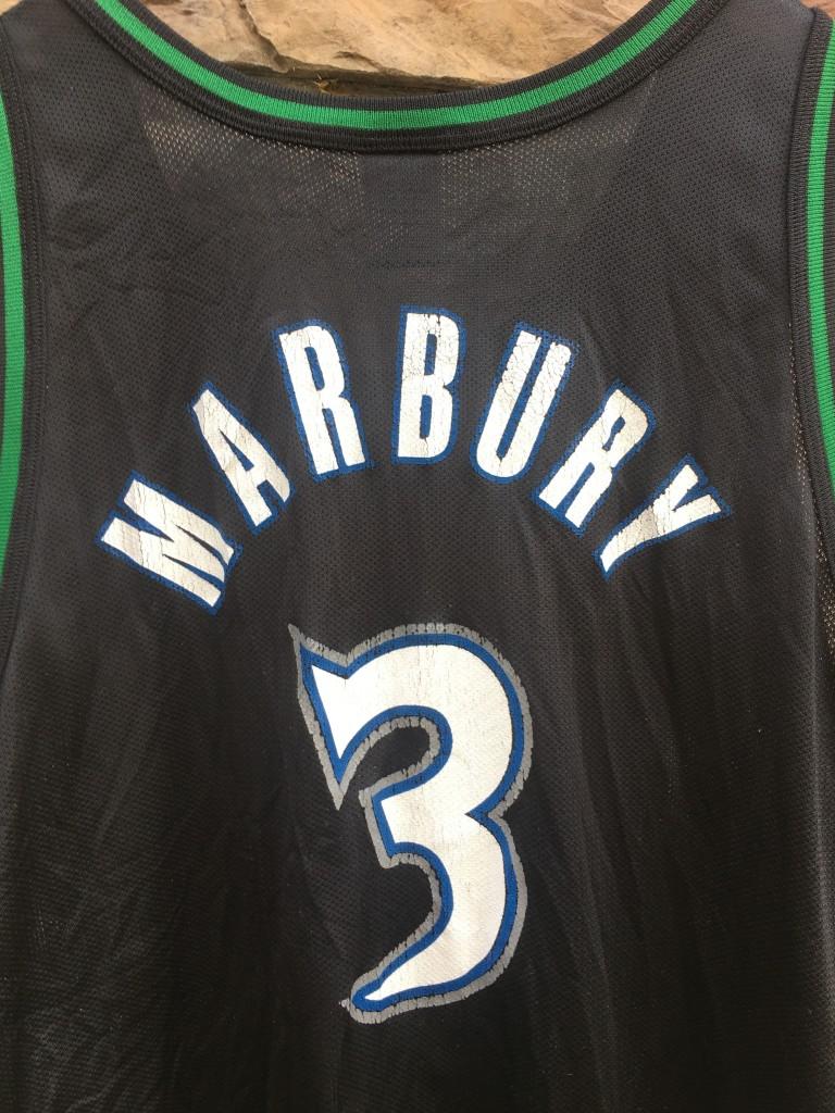 ef3960532f7e 1997 Stephon Marbury Minnesota Timberwolves Champion NBA Jersey Size ...
