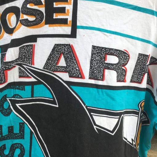 1992 San Jose Sharks Magic Johnson Tees all over print NHL t shirt size large
