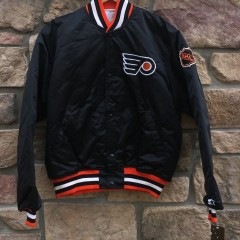 90's Philadelphia Flyers Starter Satin NHL bomber jacket size Large