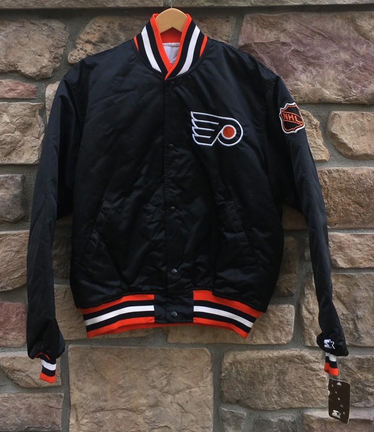 883c89adbea 90 s Philadelphia Flyers Starter Satin NHL bomber jacket size Large