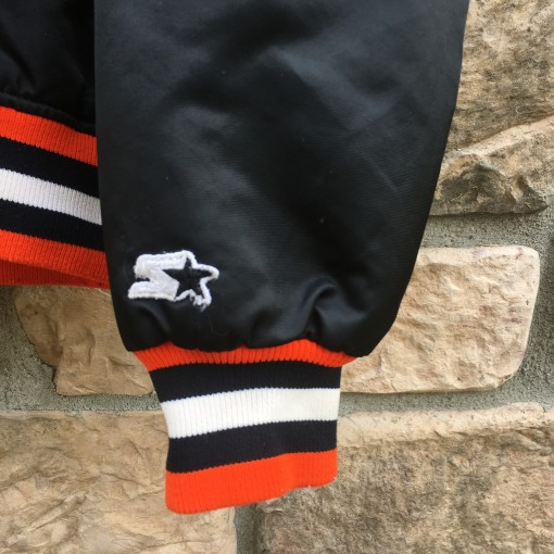 90's Philadelphia Flyers Starter Satin NHL bomber jacket size medium