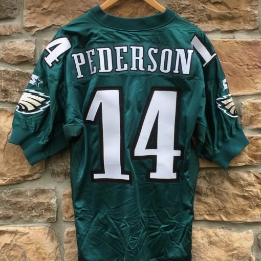 90's Doug Pederson Philadelphia Eagles Authentic vintage Starter Pro Line NFL jersey size 48 large