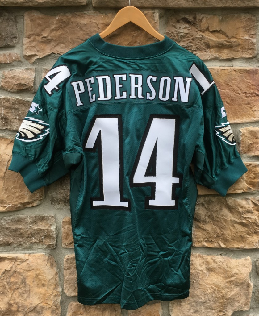 4ec179807 90 s Doug Pederson Philadelphia Eagles Authentic vintage Starter Pro Line  NFL jersey size 48 large