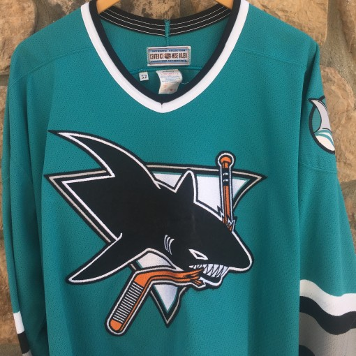 early 90's San Jose Sharks Authentic CCM NHL jersey size 52 XXL