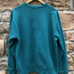 90's Champion Double embroidered Logo crewneck sweatshirt aqua size large