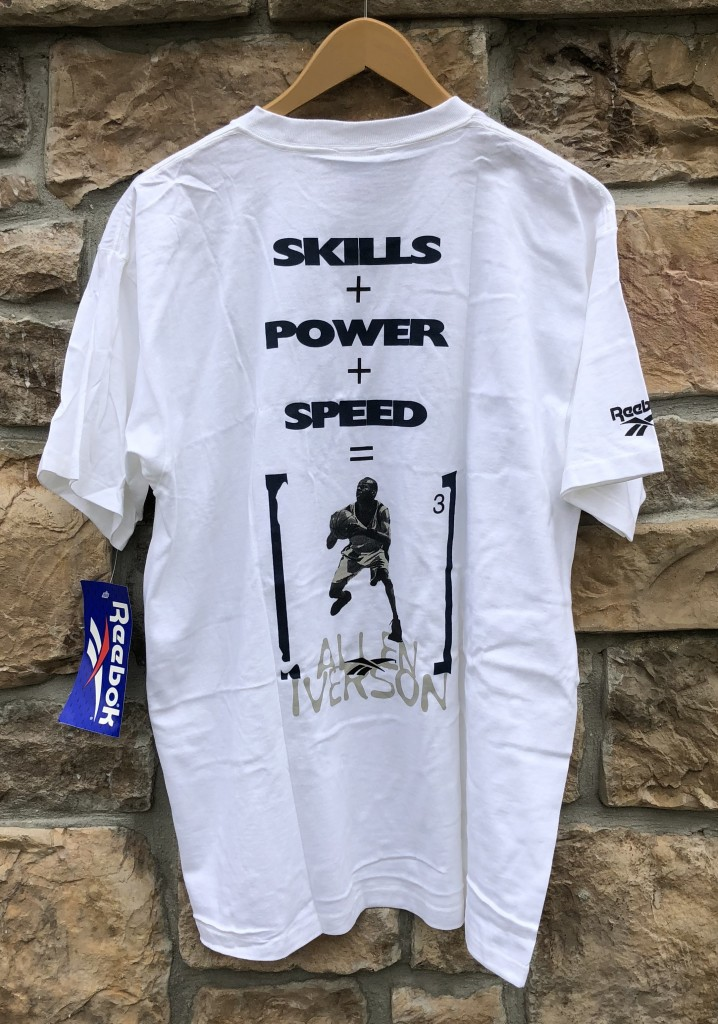 d9e5513c475 1997 Allen Iverson Skills + Power + Speed deadstock vintage Reebok shirt  size large   medium