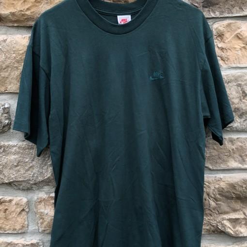 deadstock vintage 90's Nike tonal crewneck shirt size large forrest green