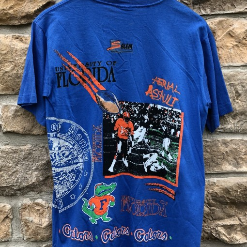 1991 Florida Gators NCAA Salem sportswear Ariel Assault  shirt size medium