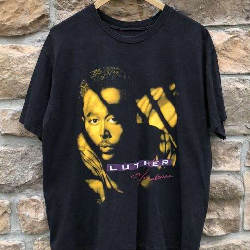 1991 Luther Vandross Power of love tour concert t shirt size Large vintage OG