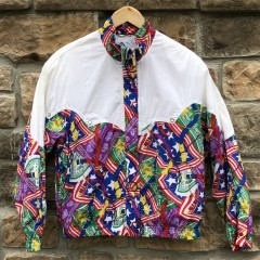 90's Head Tennis America print windbreaker jacket size medium