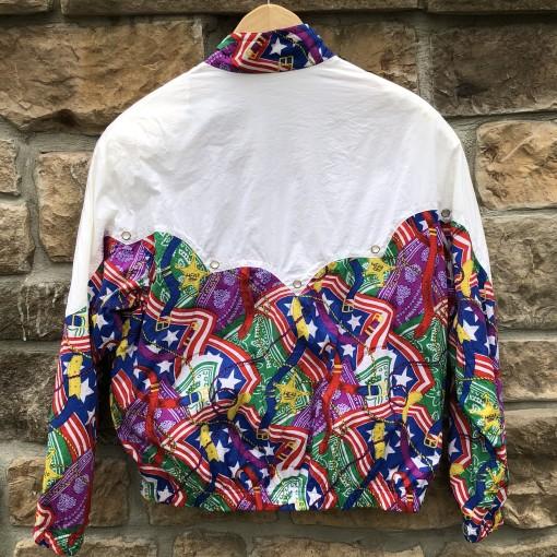 90's Head Tennis America print windbreaker jacket size medium