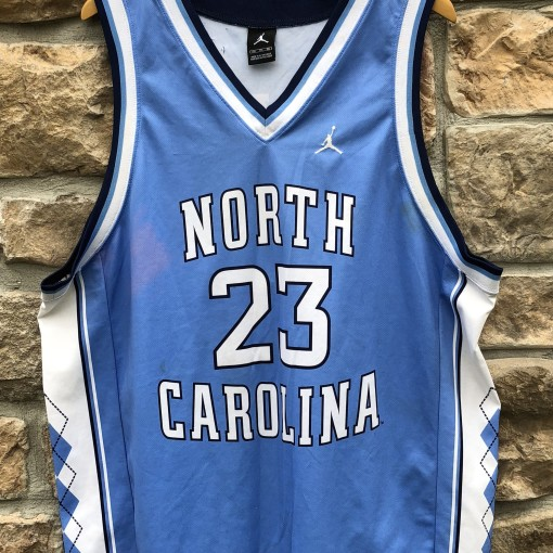 00's Retro Vintage North Carolina Tarheels Michael Jordan NCAA jersey size 52 XXL