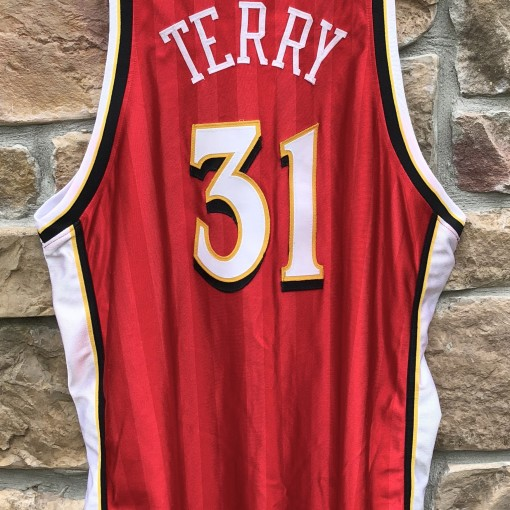 vintage Jason Terry Atlanta Hawks Champion Authentic NBA jersey size 52 XXL