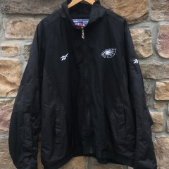 90's Philadelphia Eagles vintage reebok pro line authentic windbreaker jacket size XXL