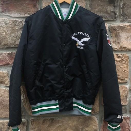 90's Philadelphia Eagles starter satin bomber jacket size medium