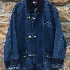 90's Tommy Hilfiger Denim Fireman's jacket size medium