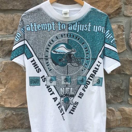 1996 Philadelphia Eagles NFL on fox vintage t shirt 90's