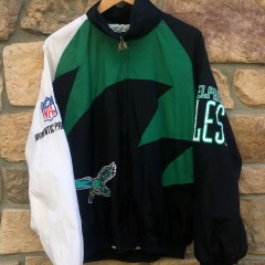 90's Philadelphia eagles logo athletic vintage Sharktooth NFL jacket size large