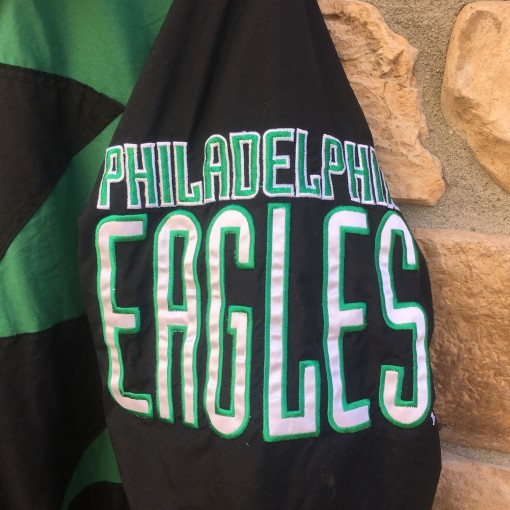 90's Philadelphia eagles logo athletic vintage Sharktooth NFL jacket size large