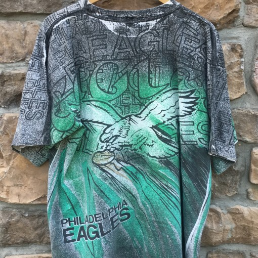 90's Philadelphia Eagles vintage Magic Johnson Tee's all over print t shirt size XL