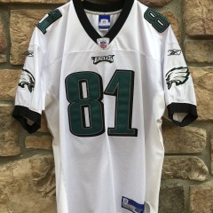 2004 Terrell Owens Philadelphia Eagles Authentic reebok nfl jersey size 48 white home