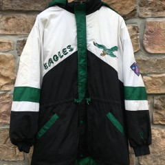 90's Philadelphia Eagles Pro Player vintage 1994 75th anniversary NFL down kelly green jacket size XL