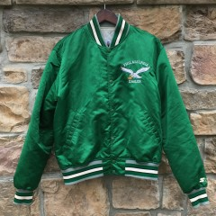 90's Philadelphia Eagles Starter satin bomber jacket size large kelly green