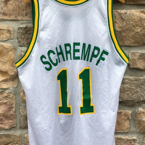 90's Detlef Schrempf Seattle Super Sonics Champion NBA jersey size 48 XL