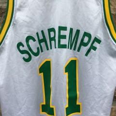 90's Detlef Schrempf Seattle Super Sonics Champion NBA jersey size 48 XL