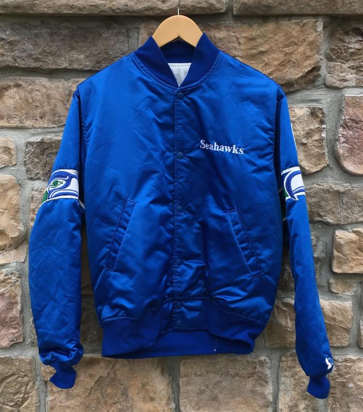 size 40 61038 242e6 90's Seattle Seahawks Starter Satin NFL Jacket Size Medium
