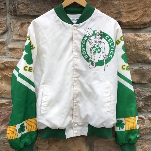 90's Boston Celtics Chalkline Fanimation NBA jacket size Large