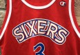 1997 Allen Iverson Philadelphia Sixers Champion Red Rookie jersey size 44 large