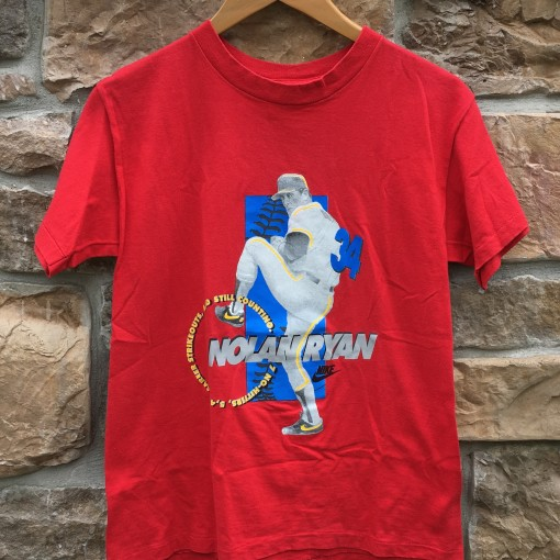 90's Nike Nolan Ryan T shirt vintage red